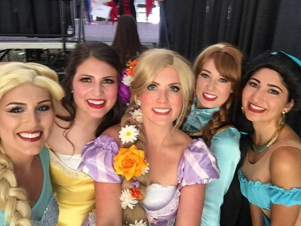 Five princesses from Princess Events of Knoxville
