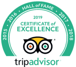 TripAdvisor 2019 Hall of Fall Certificate
