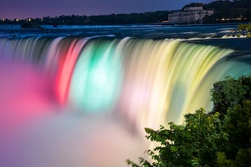 niagara falls lights night