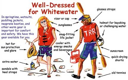whitewater rafting attire