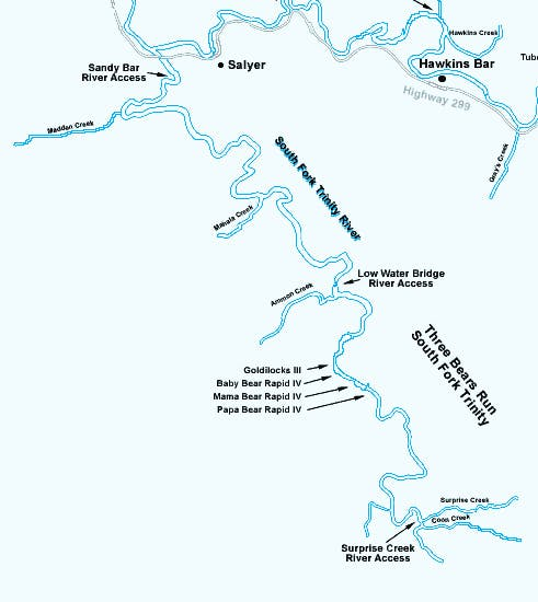 South Fork Trinity River Map