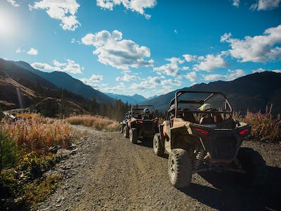 rzr tours on a nice day in whistler