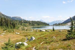 Rainbow Lake above whistler