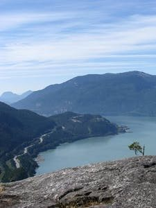 View of the sea to sky highway near Squamish in Canada