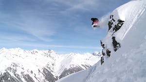 Man leaping over big terrain