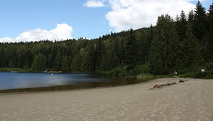 Beautiful beaches around lost lake whistler