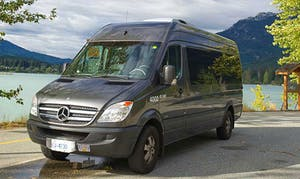 A private shuttle van in Whistler
