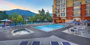 Hilton in Whistler, image of the pool and patio