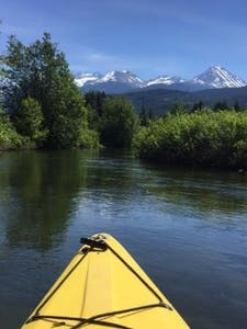 River of golden dreams by kayak in Whistler