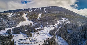 Aerial shot of Whistler Sliding Center