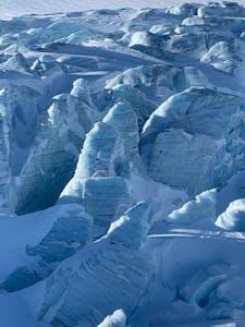 glacier as viewed on a Blackcomb Heli trip