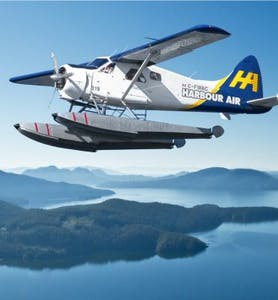 Harbour Air Seaplanes over Georgia Straight, BC