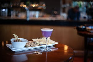 Raven room cocktail and small plate, Whistler