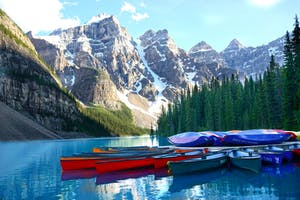 Canoes in Banff National Park