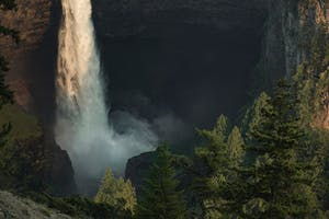 Wells Gray Provincial Park Waterfall