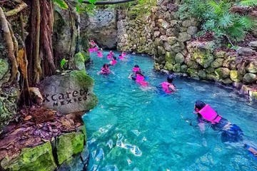 People swimming with Xcaret