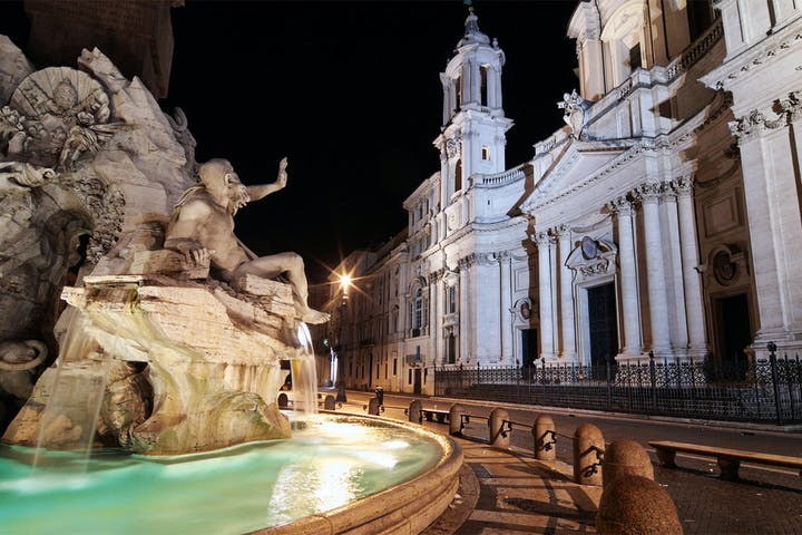 The fountain of Piazza di Spagna