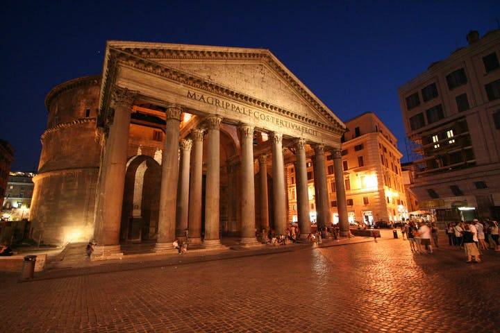 The facade of the Pantheon