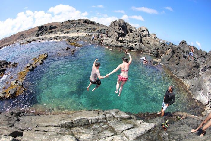 Rugged Natural Pool Safari Abc Tours Aruba