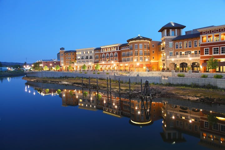 Waterfront buildings in Napa County, CA