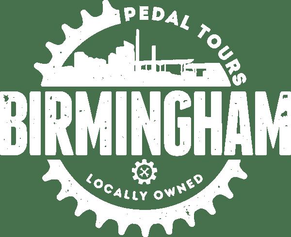 Birmingham Pedal Tours white logo