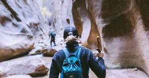 Leave No Trace hiking in the narrows