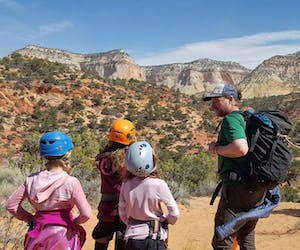Zion National Park canyoneering with kids