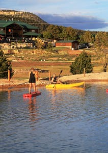 Kayak canoe paddleboard pond