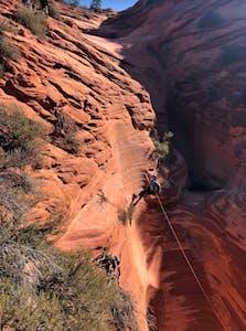 fall canyoneering adventure