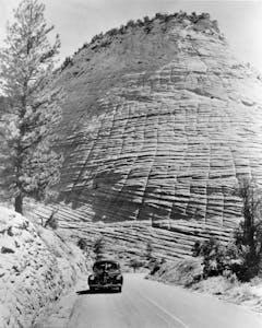 Checkerboard Mesa Zion National Park history