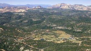 Aerial View Zion Ponderosa Ranch Resort