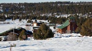 Zion Ponderosa Ranch Resort in winter
