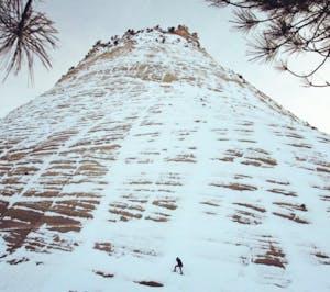 Checkerboard Mesa, Zion National Park in winter