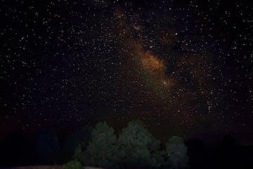a star in the dark sky