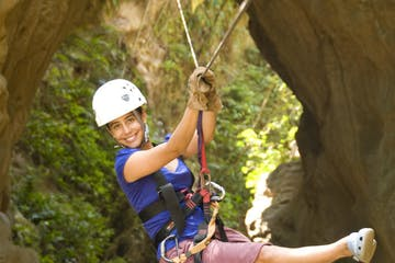 girl on Canyon Canopy Tour