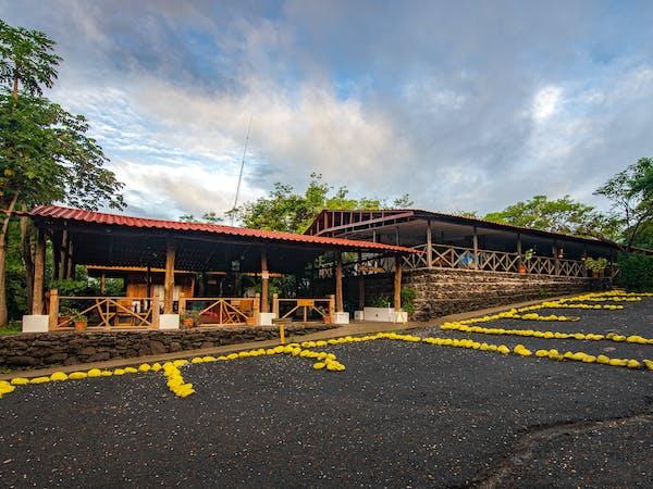 Hotel Hacienda Guachpelin parking area