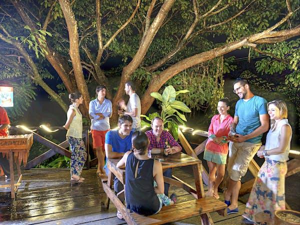 Guests hanging out at Hotel Hacienda Guachpelin