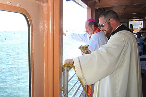 Bishop blessing our fleet