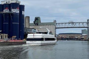 Grand Lady cruising along Buffalo River