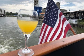 bubbly brunch cruise on deck