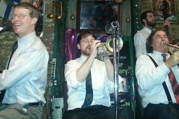 band playing music on bourbon street