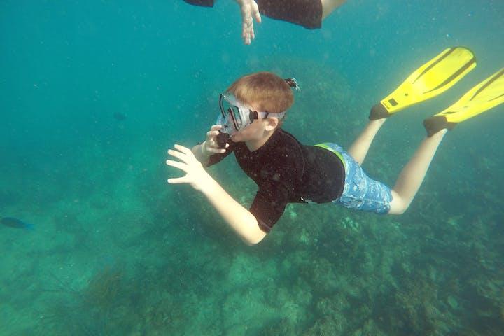 Child snorkeling in Puerto Rico