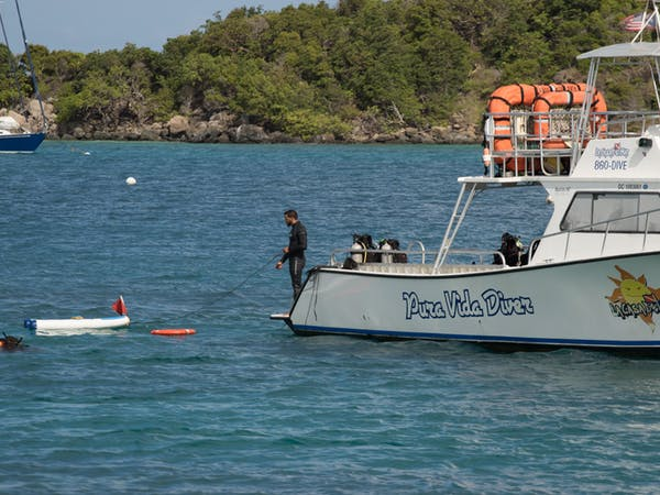 safety raft and pura vida boat