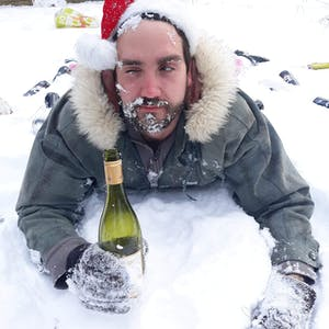 a person taking a selfie in the snow