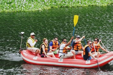 Group on a river raft