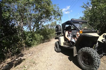 Tomcar on trail