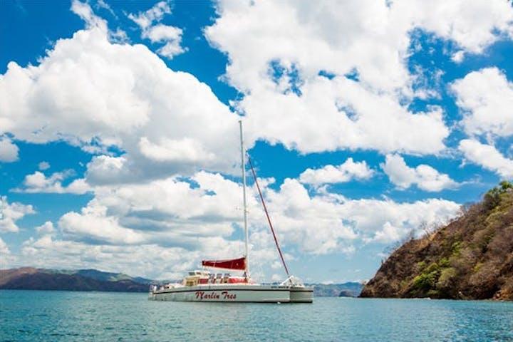 catamaran on water