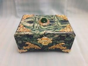 Malachite box Moscoe souvenir