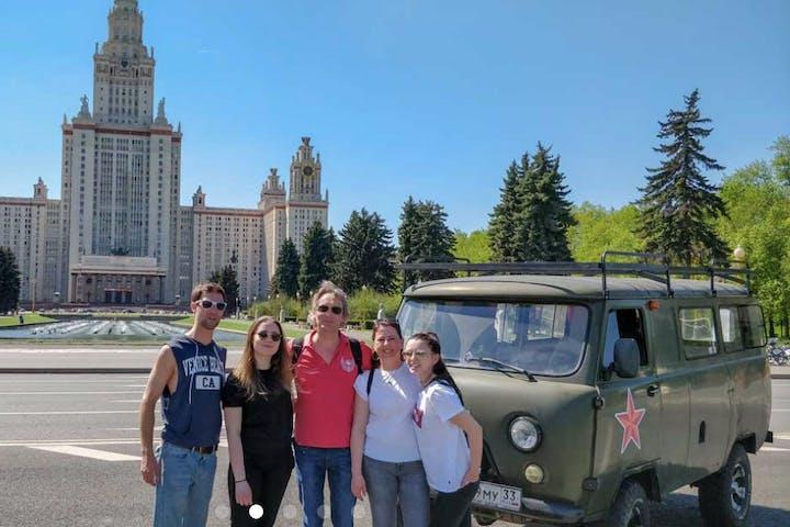 Moscow Combo Tour: City by Van, Metro & Cuisine