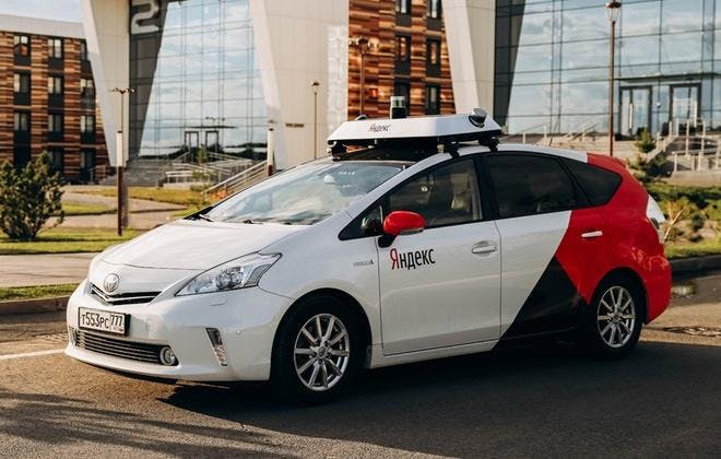 unmanned taxi in Moscow